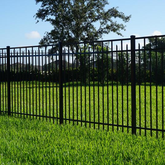 Black Aluminum Fence Canterbury