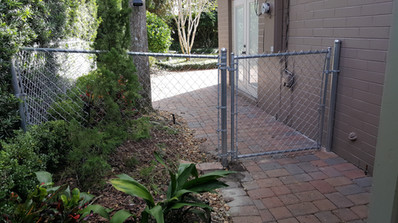 Galvanized residential chain link fence