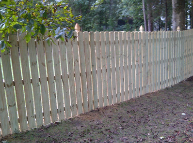 Wood Fence Gothic Posts