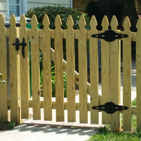 French Gothic Space Picket Wood Fence