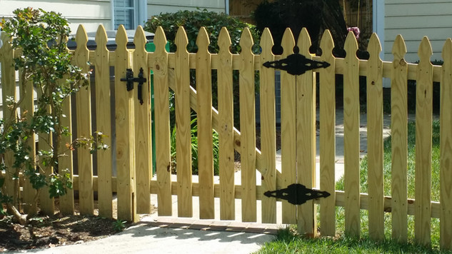 Gothic Space Picket Wood Fence