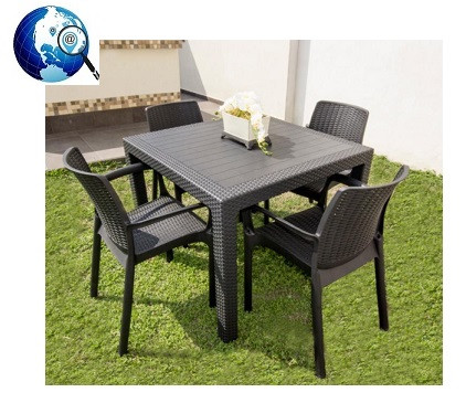 Comedor Exterior para 4 Personas Fruitniture Grape