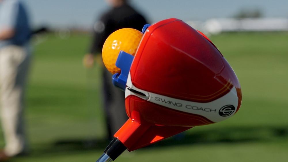Swing Coach Club with golf ball