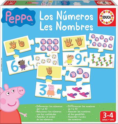 Los números Peppa Pig