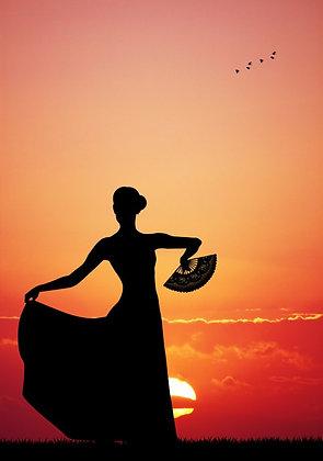 Flamenco al atardecer