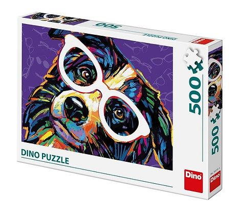Perro con gafas