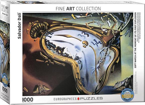 Dalí: Reloj blando en el momento de su primera explosión