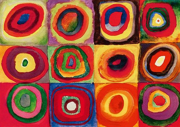 Kandinsky, estudio del color, 1913