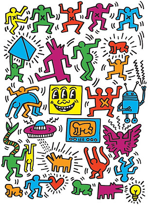 Collage Keith Haring