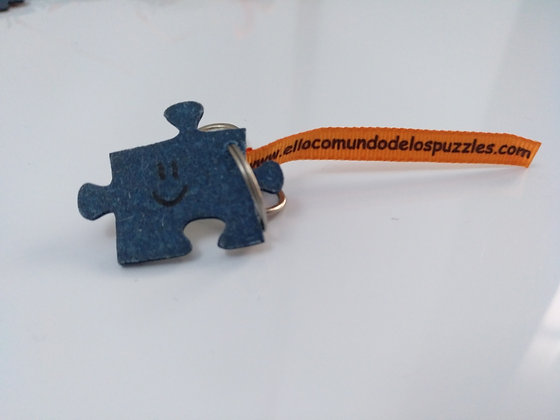 """Llavero """"el loco mundo de los puzzles"""""""