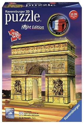 Arco del Triunfo de NOCHE, París