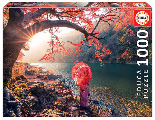 Amanecer en el río Katsura, Japón