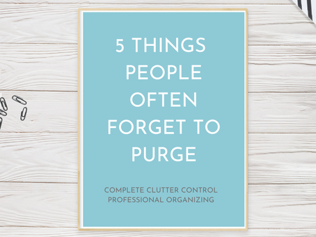 5 things people often forget to purge