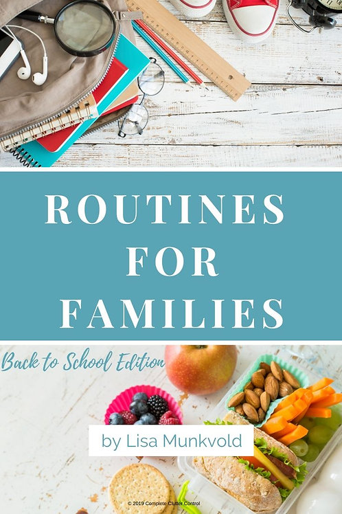 Routines for Families E-Book - Back to School Edition