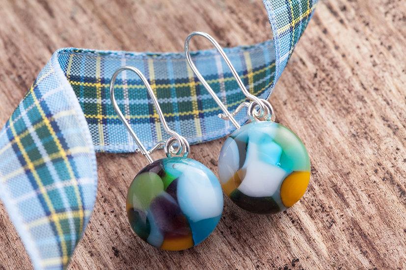 Manx Tartan Inspired Drop Earrings