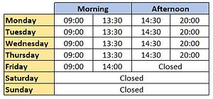 Woolton Dental - Opening Times Aug 2020