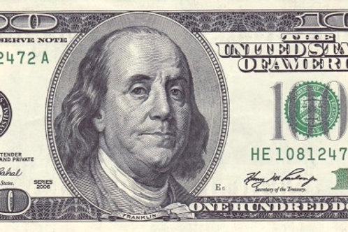 United States of America 100 Dollars Old Issue Paper Banknote (UNC)