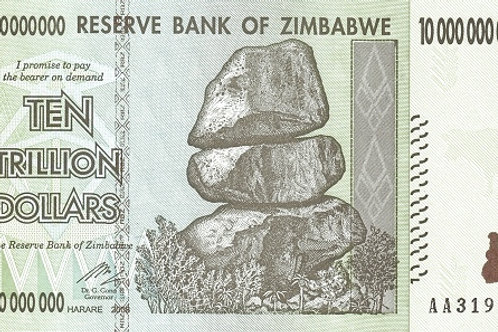 Zimbabwe 10 Trillion Paper Banknote (UNC)