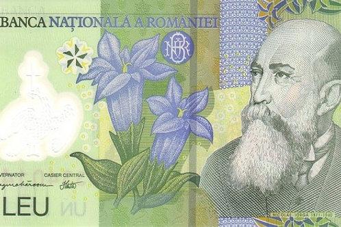 Romania 1 Leu UNC Polymer Banknote