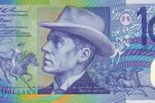 Australia 10 Dollars Polymer Banknote (Used But Good Condition)