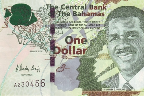 Bahamas 1 Dollar Paper Banknote (UNC)