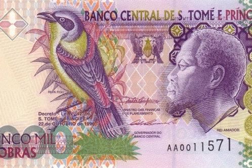 São Tomé and Príncipe 5000 Dobras Paper Banknote (UNC)