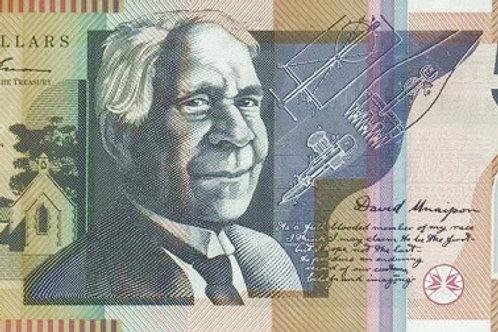 Australia 50 Dollars Polymer Banknote (AUNC)
