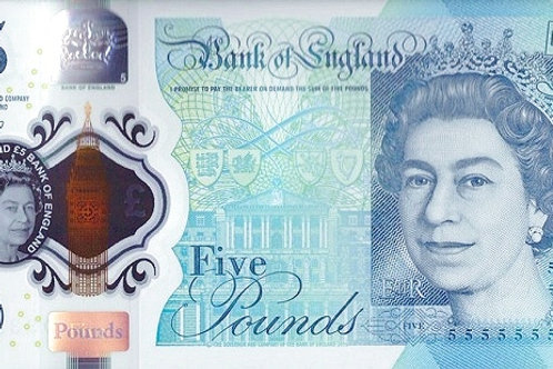 England 5 Pound Polymer Banknote (AUNC)