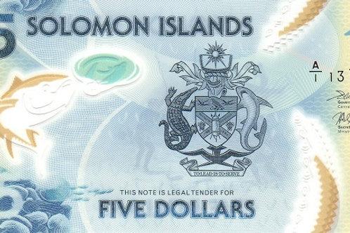 Solomon Islands 5 Dollars Polymer Banknote (UNC)