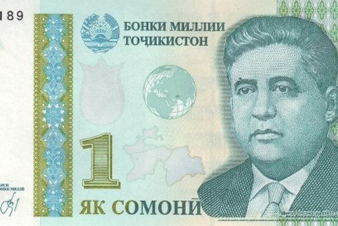 Tajikistan 1 Somoni Paper Banknote (UNC)