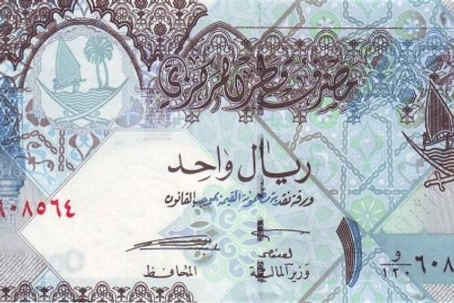 Qatar 1 Riyal 2008 Issue Paper Banknote (UNC)