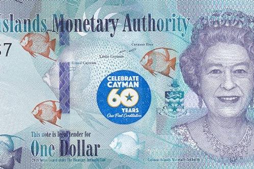 Cayman Islands 1 Dollar Commemorative Paper Banknote (UNC)