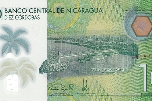Nicaragua 10 Cordoba Polymer Banknote (UNC)