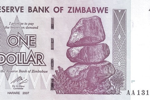 Zimbabwe 1 Dollar 2007 Paper Banknote (UNC)