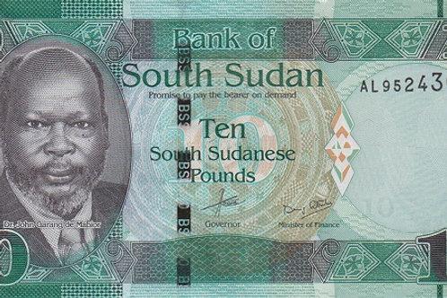 South Sudan 10 Pound Paper Banknote (UNC)