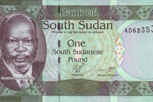 South Sudan 1 Pound Paper Banknote (UNC)