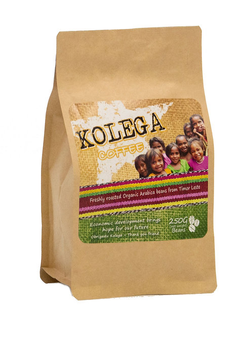 250g Whole Bean Premium Organic KOLEGA Coffee
