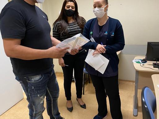 Acomac Oeste realiza doação de máscaras e escudos de proteção ao AME de Itapevi