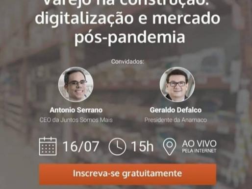 Defalco participa de live sobre o mercado de varejo na construção e digitalização pós-Covid-19