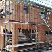 Fassade im Bau