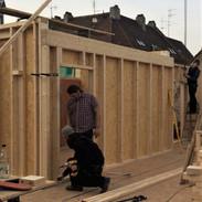 Errichtung neuer Holzrahmenwände