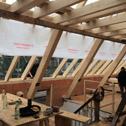 Neuaufbau Dachtragwerk