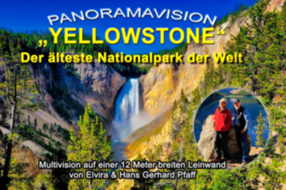 """Poster Multimedia-Show """"Yellowstone""""."""