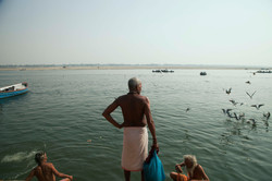 There are more than 80 ghats, the multiputpose, stone riverbank steps that give access to the Ganges