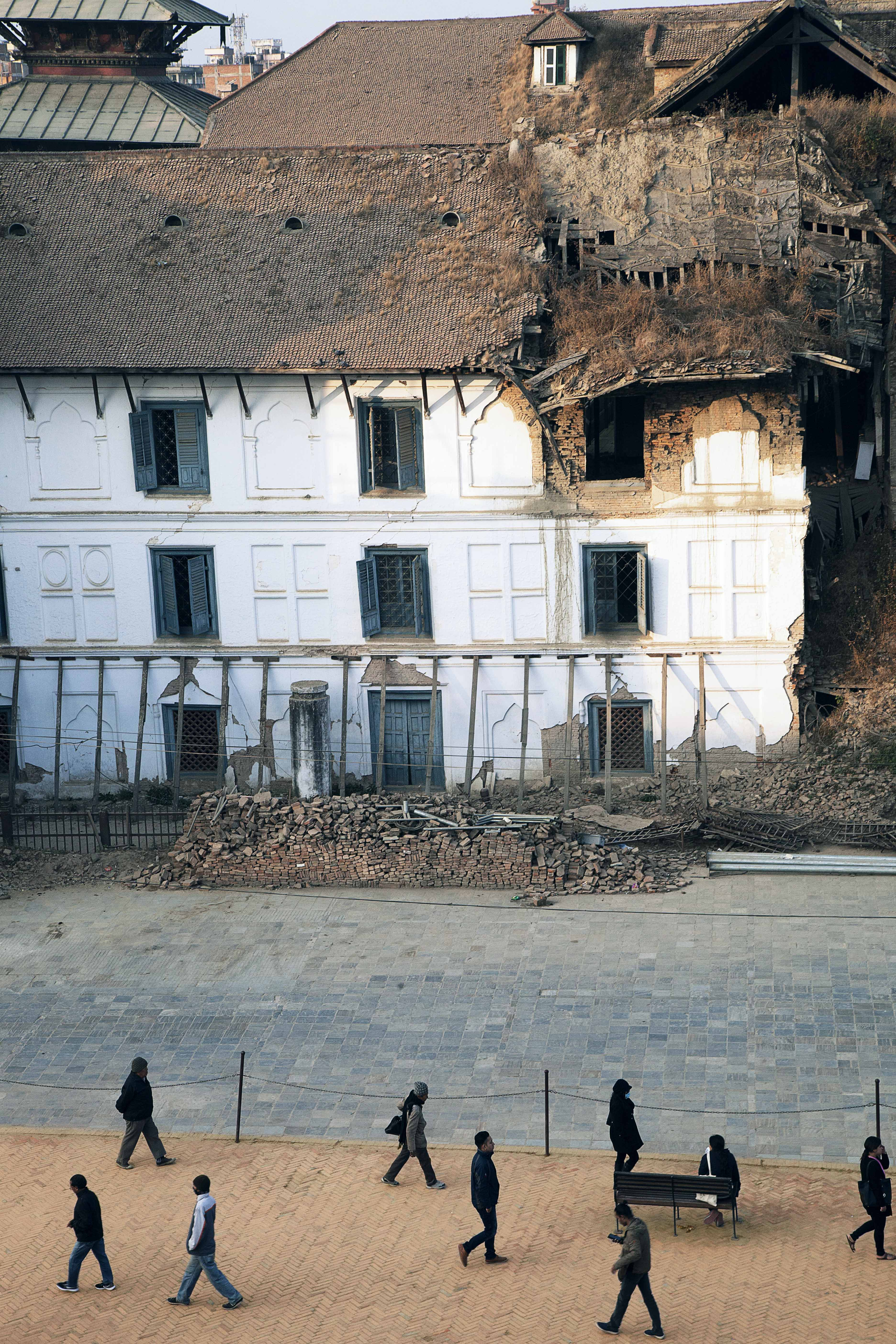 The ragged Gaddi Baihak in Kathmandu Durbar Square