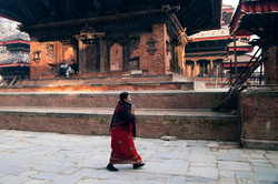 Life fissure in the center of Kathmandu Durbar Square
