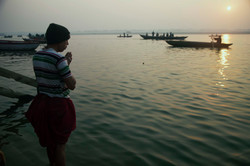 In Hinduism, the river Ganges is considered sacred and worshipped as Goddess Ganga