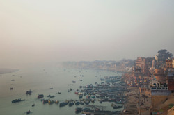 The city of Varanasi nestles on the banks of Ganges River in the North Indian State of Uttar Pradesh