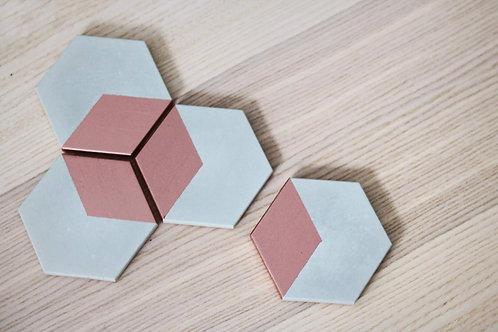 Mind the Minimal : HEX Concrete Coasters