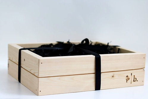 Wooden Open Box (For 4+ Items)